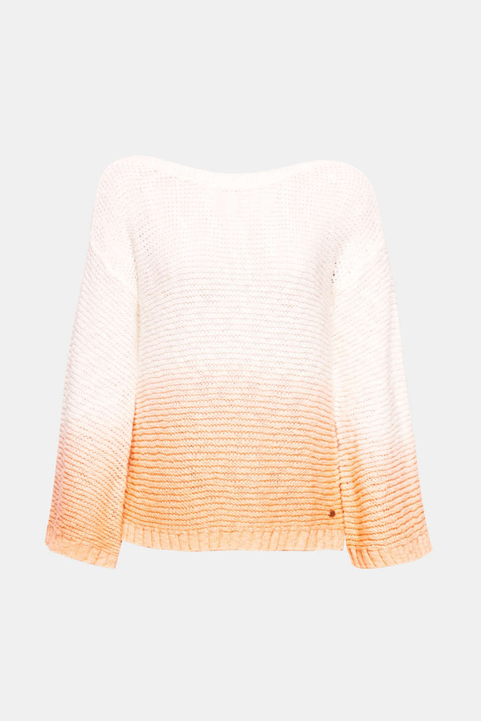 Trendy knit piece with subtle colour gradation! This jumper with wide sleeves and dropped shoulders exudes lightness and gives your outfit an extremely fresh touch.
