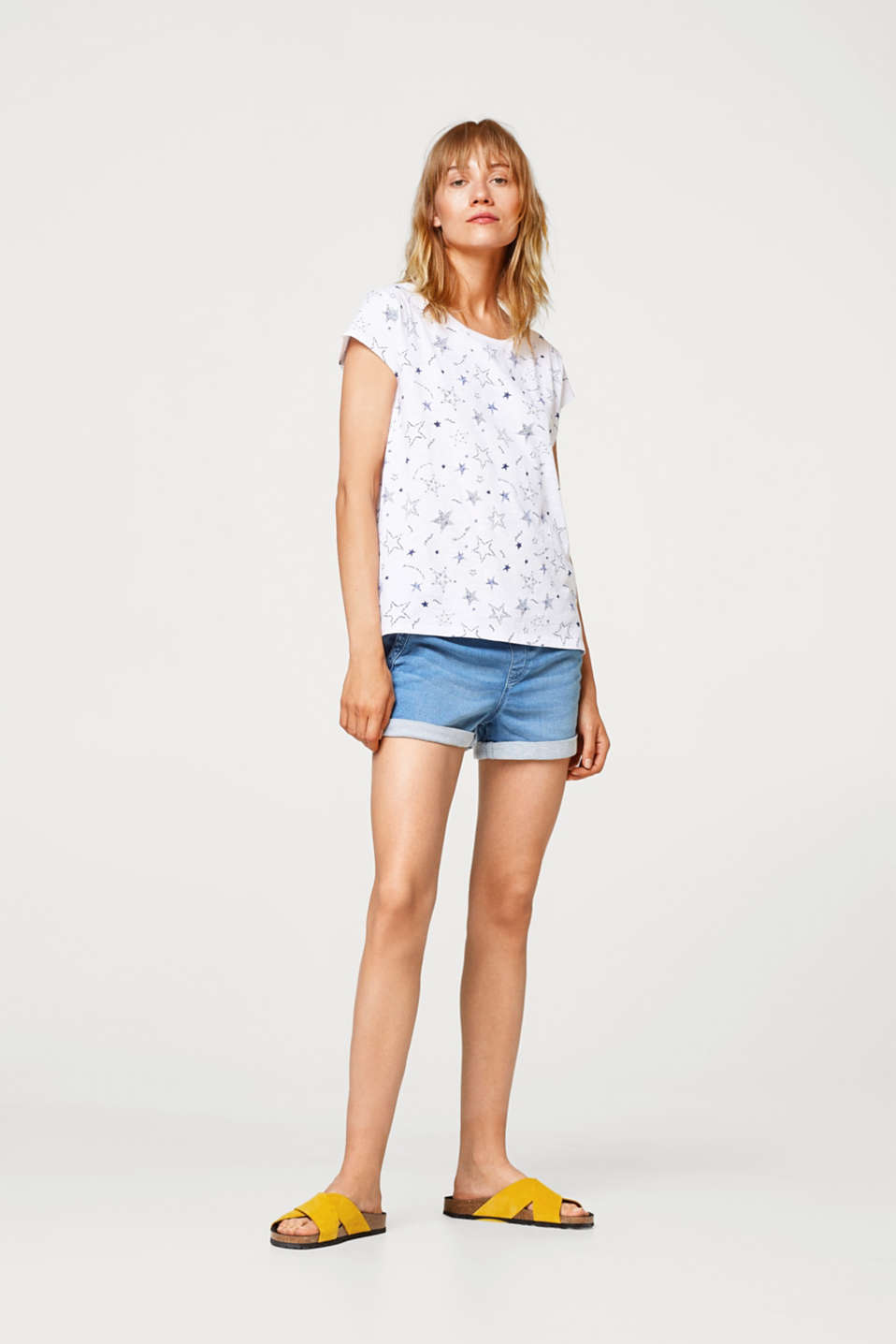 Cotton T-shirt with a star print