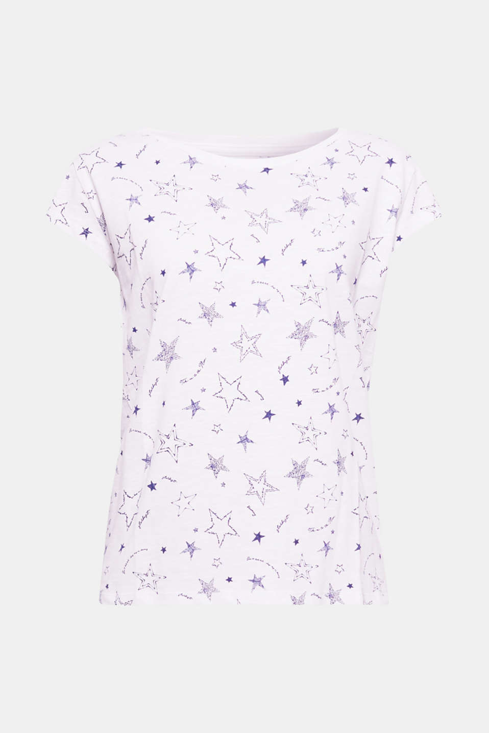 Take me to the stars! The fresh star print and the melange slub jersey add summery, lightweight notes on this short-sleeved T-shirt.
