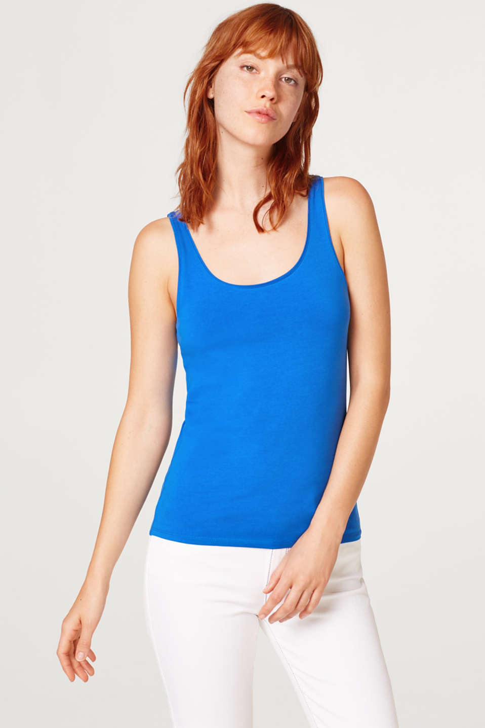 edc - Basic stretch top, organic cotton