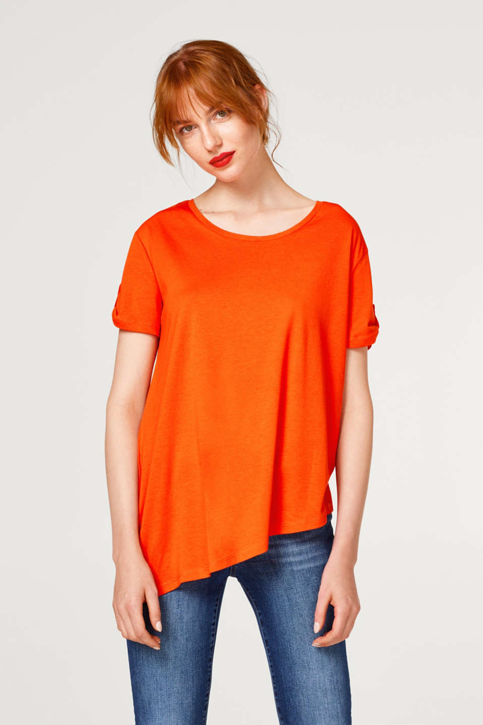 edc - A-line top with asymmetric hem