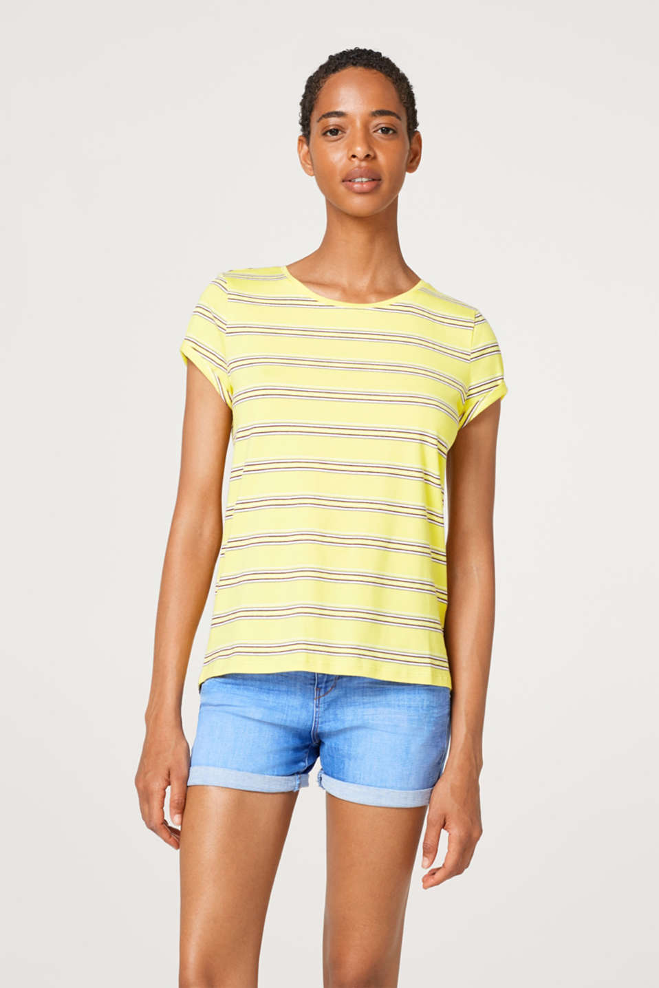 edc - Top with stripes made of stretch cotton