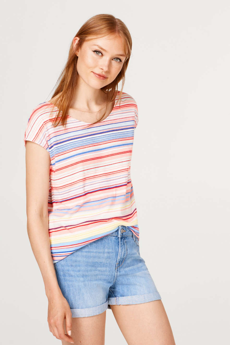 edc - Top in a striped look with bow details