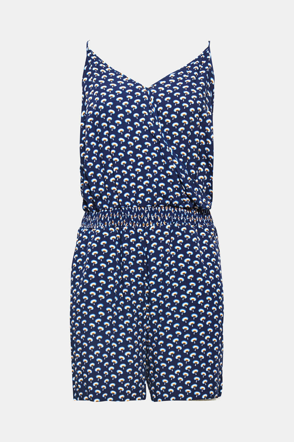More than a summer good-looker! This soft jersey jumpsuit with a decorative minimal print is also totally convincing when it comes to comfort.