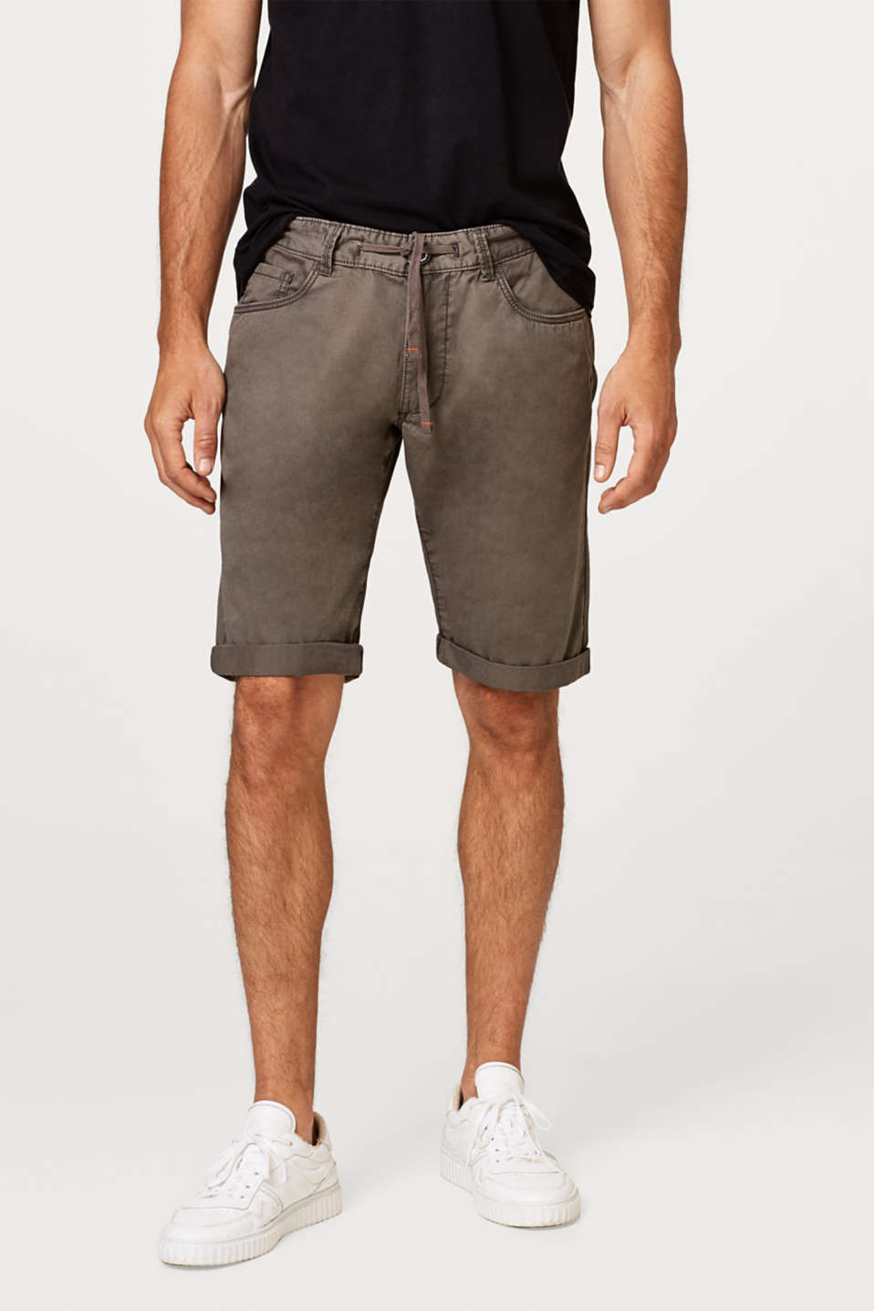 edc - Chino shorts with drawstring, made of cotton