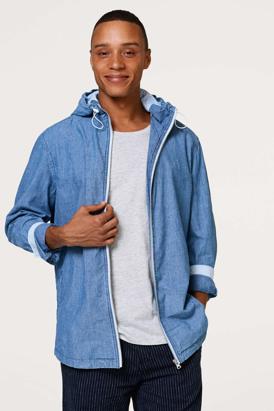 edc - Indoor top in cotton denim