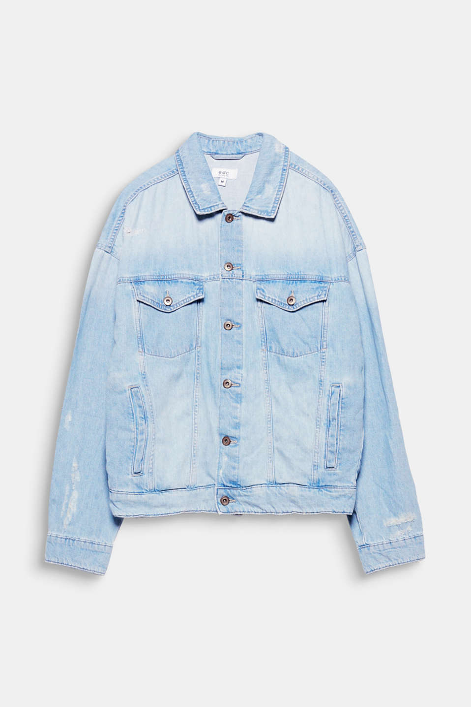 We love denim! The oversized fit and authentic vintage effects give this denim jacket a cool, urban look.