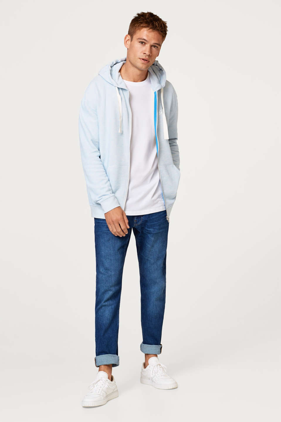 Oversized hoodie in blended cotton
