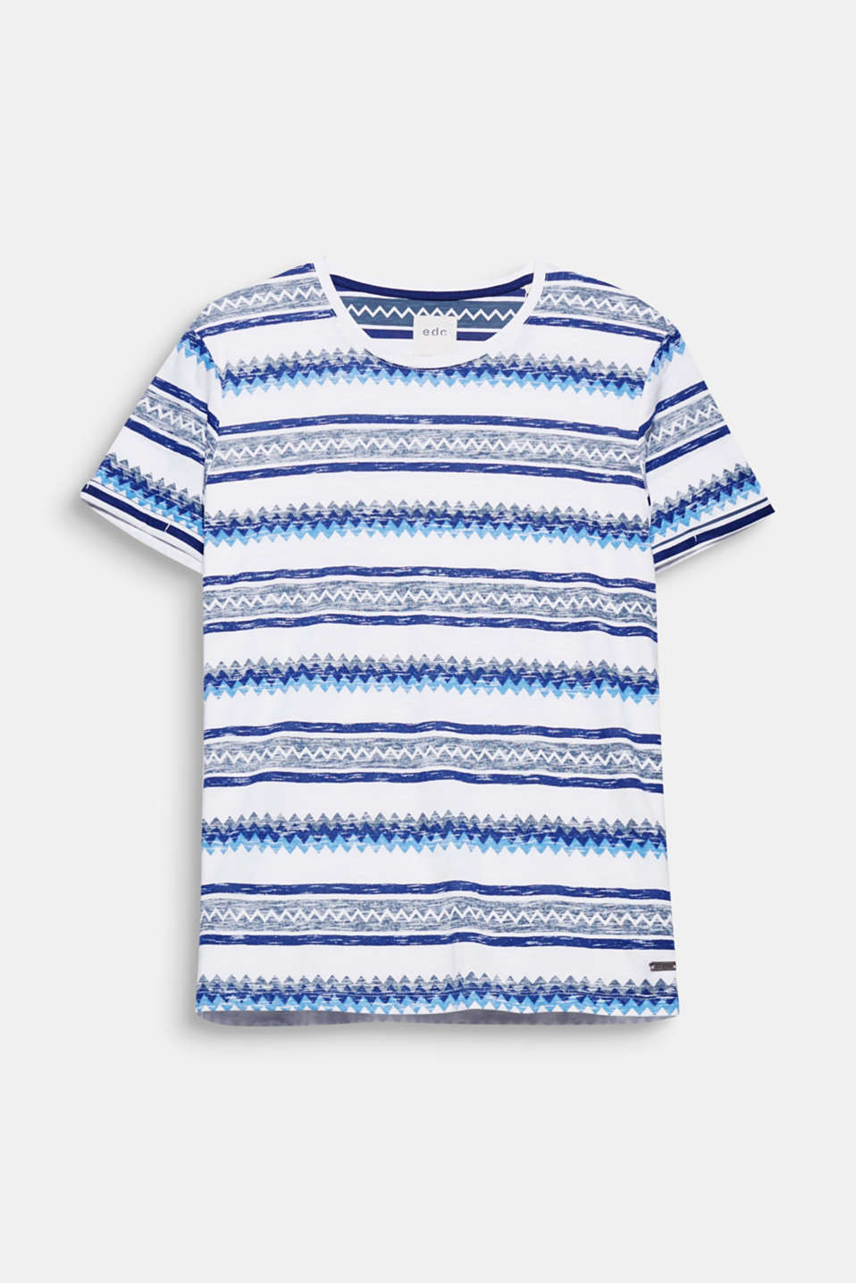 The zigzag print in striking summer colours gives this casual T-shirt in 100% cotton a trendy look.