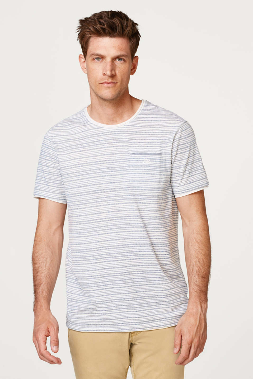 edc - Jersey T-shirt with a striped print in cotton