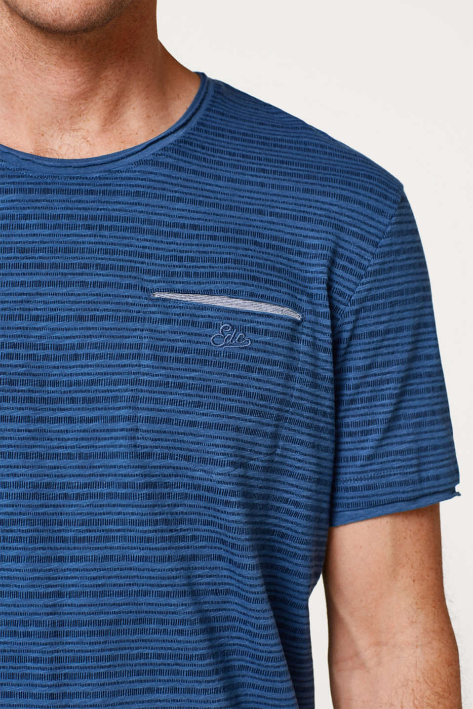 Jersey T-shirt with a striped print in cotton