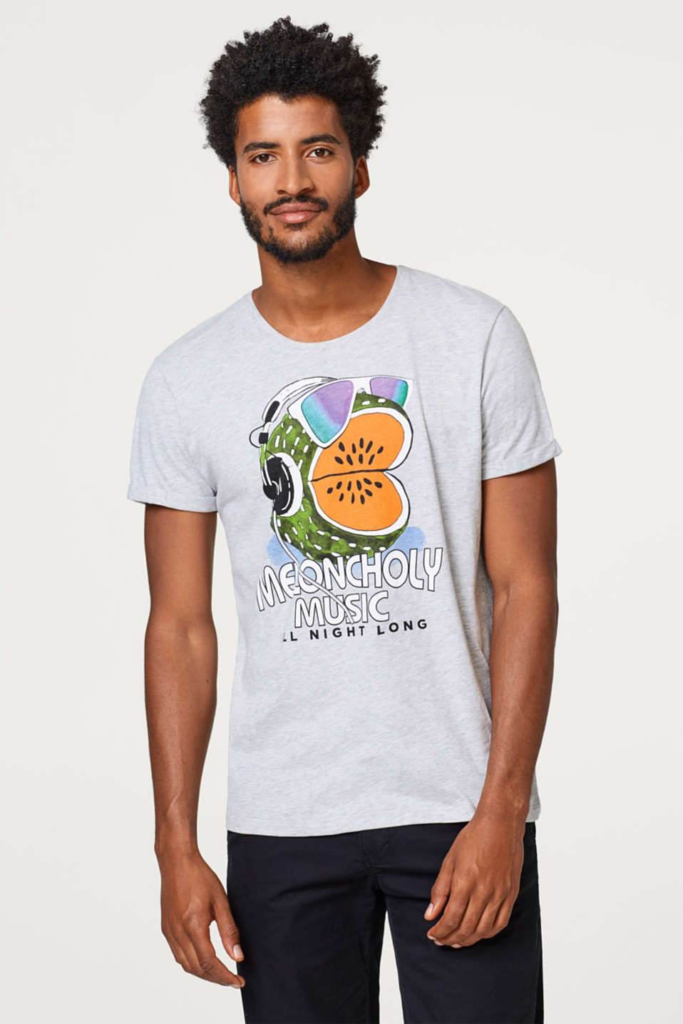 edc - Melange jersey tee with a colourful comic print