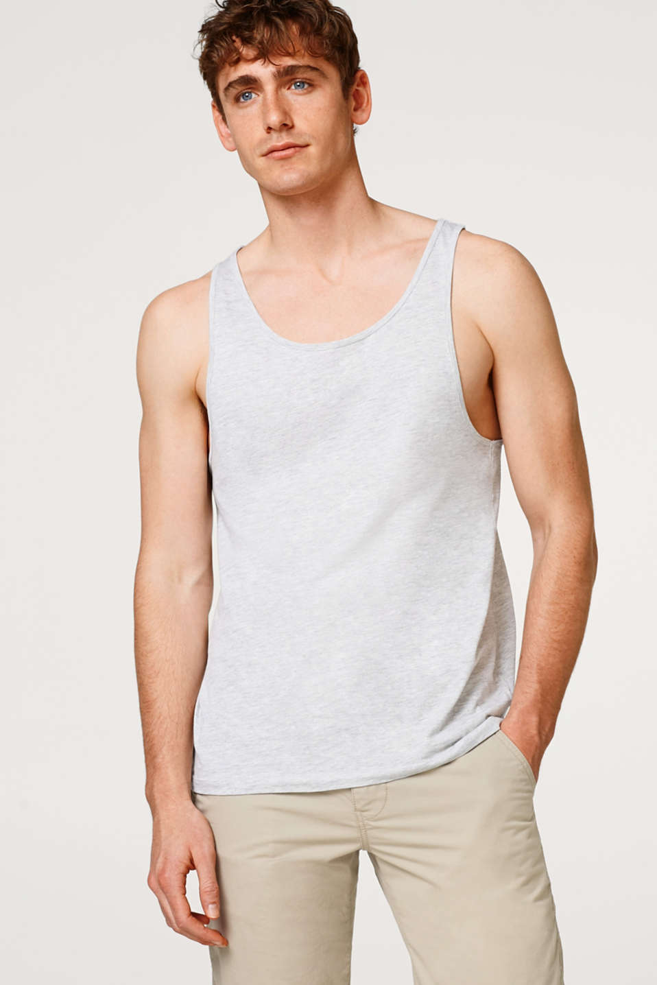 edc - Melange basic vest top in jersey