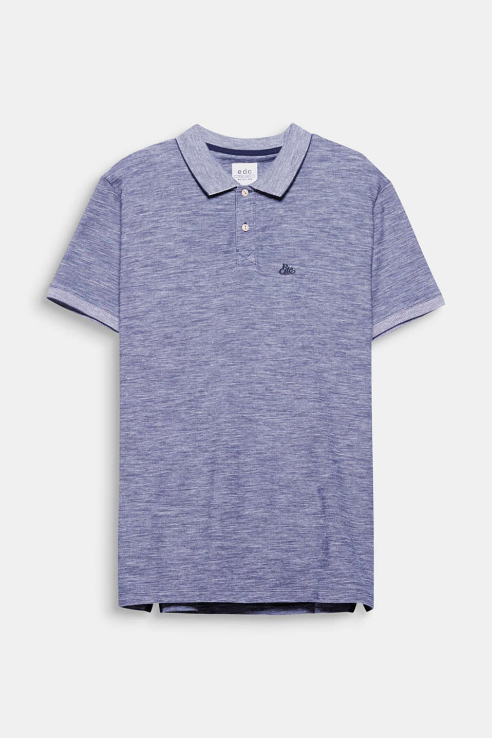 The two-tone look gives this polo shirt its exciting texture.