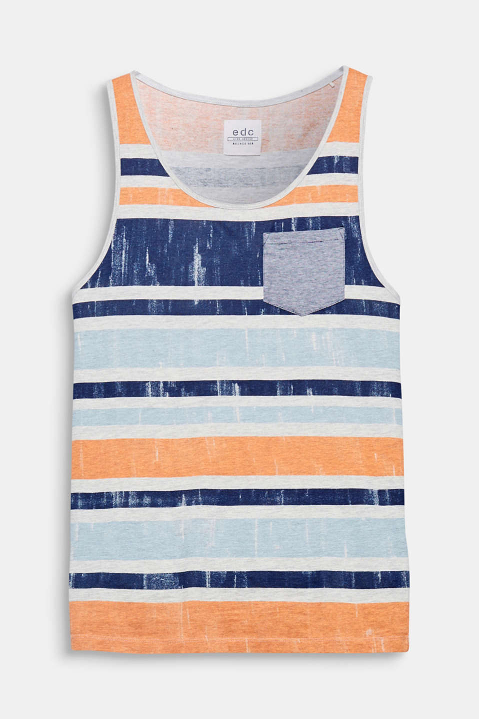 Thanks to the striking block stripes in bright summer colours, this vest top is a favourite for hot summer days.