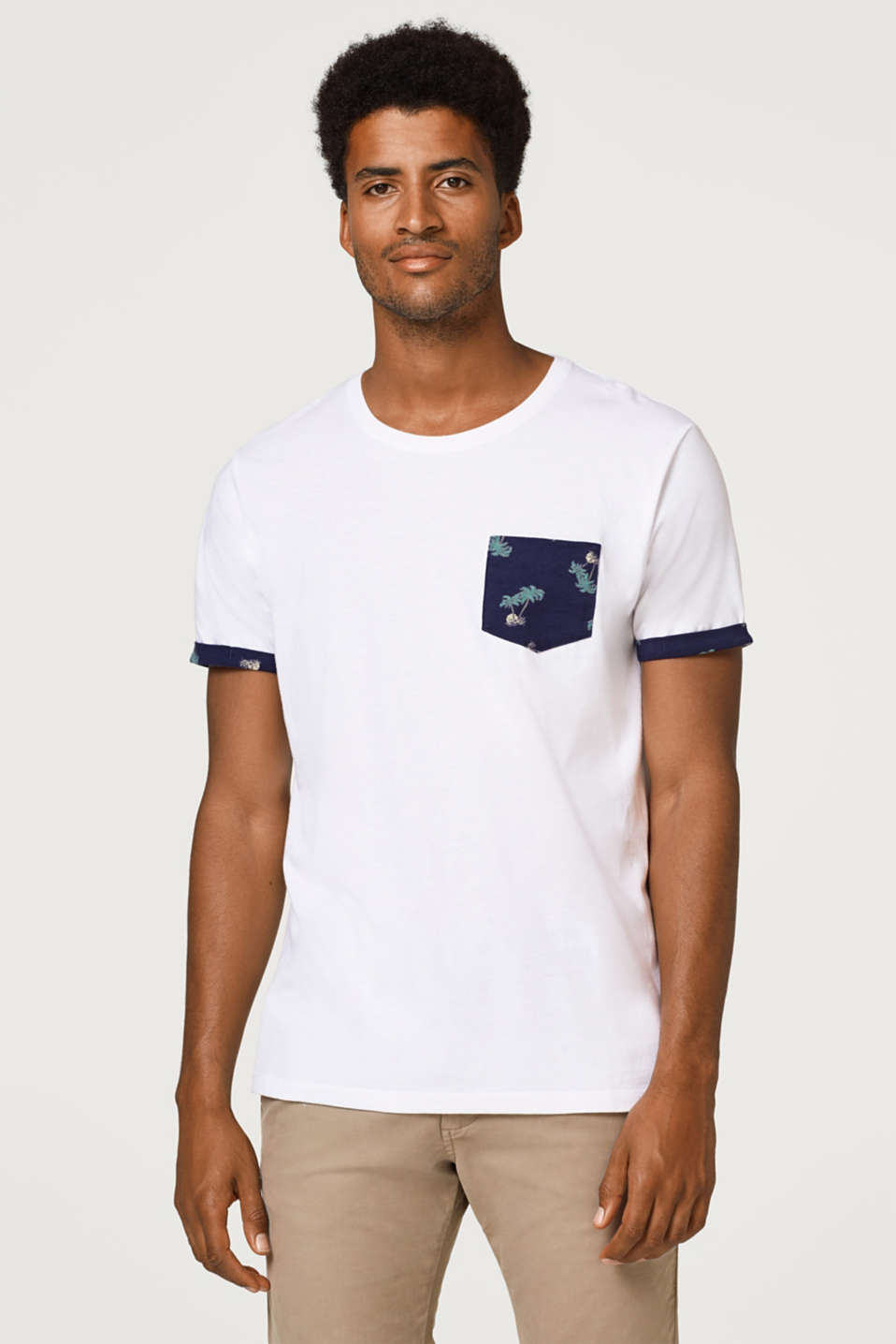 edc - Jersey T-shirt with a striking print, 100% cotton