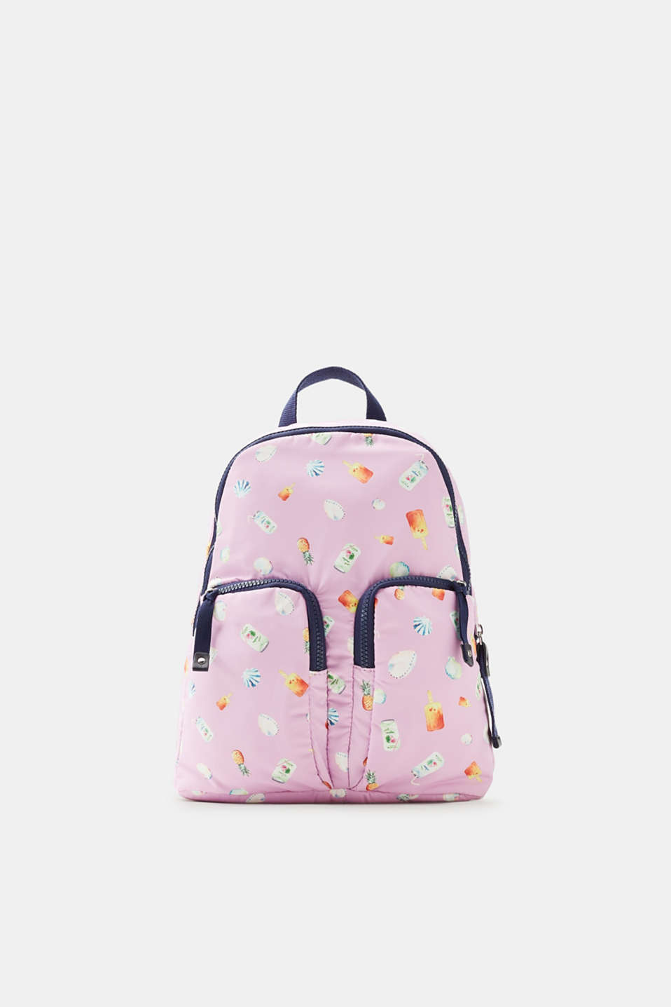 Esprit - Small backpack with a summery print