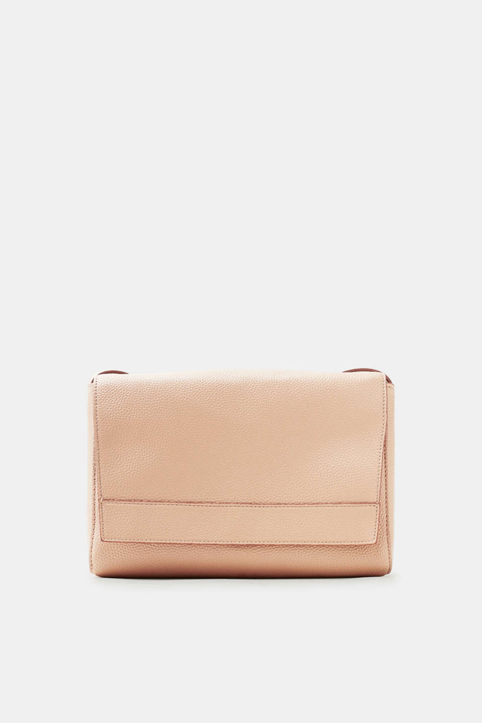 Timeless, minimalist design meets premium faux leather: small shoulder bag with a fold-over flap and long shoulder straps.