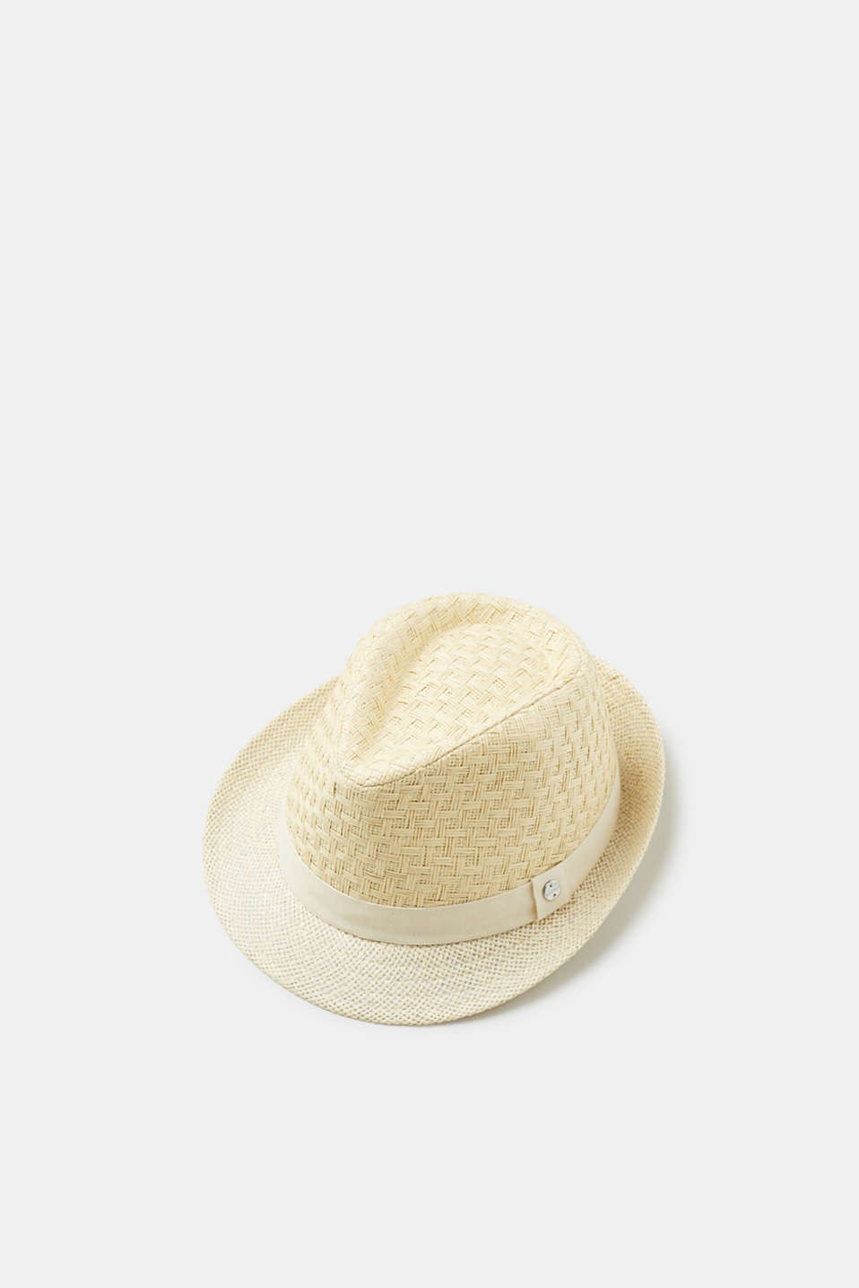 Esprit - Straw trilby with a tonal hat band