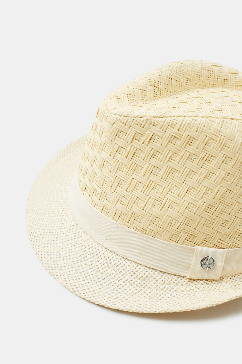 Straw trilby with a tonal hat band