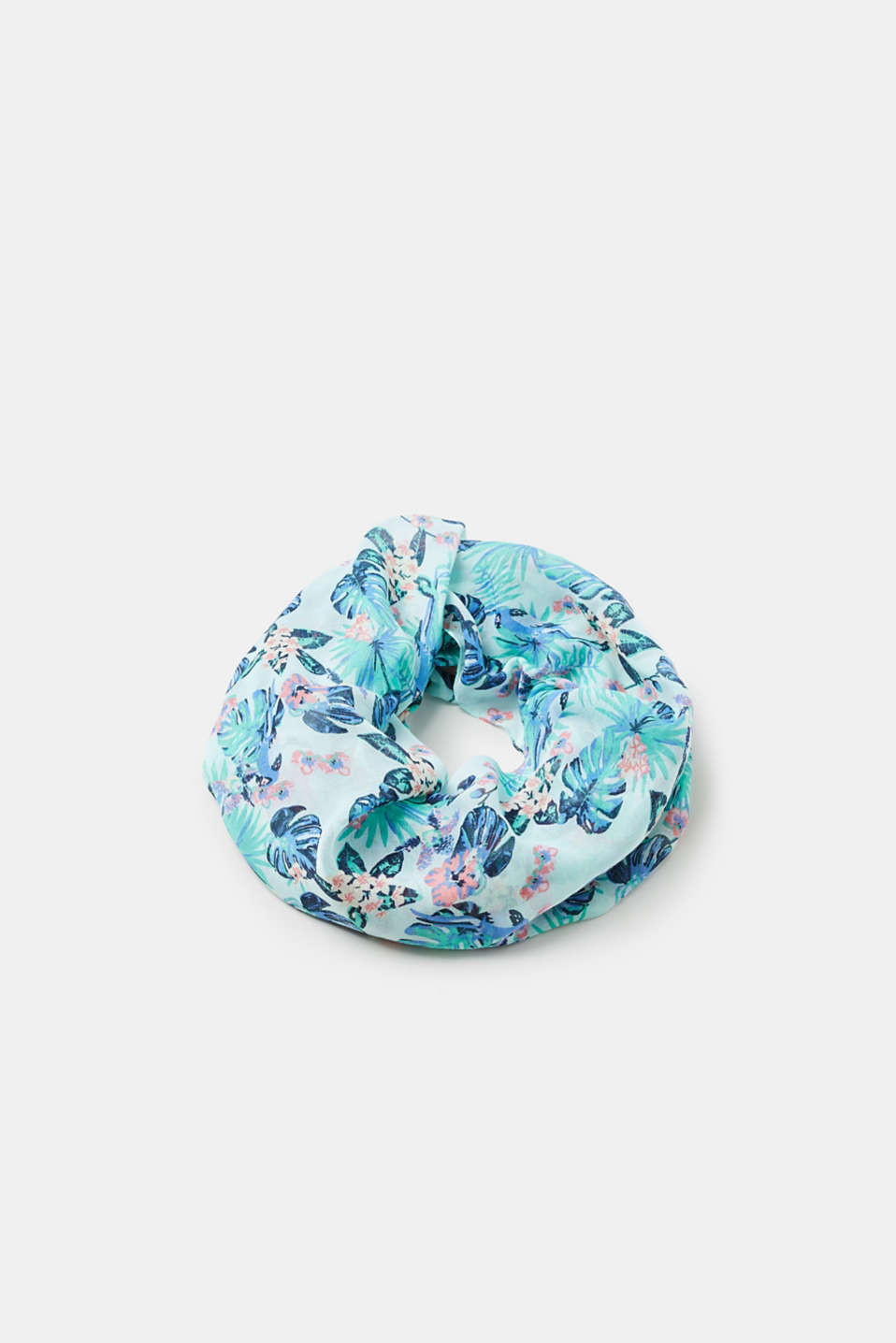 Fine snood with a summer print