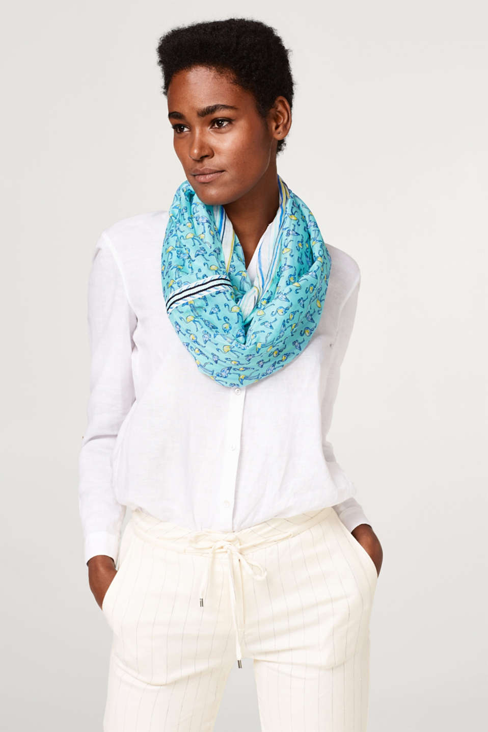 Snood with various prints, reversible
