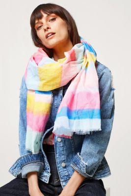 Esprit - Fin bomullssjal med flerfärgade ränder i Esprits Online-Shop 445893f14b790