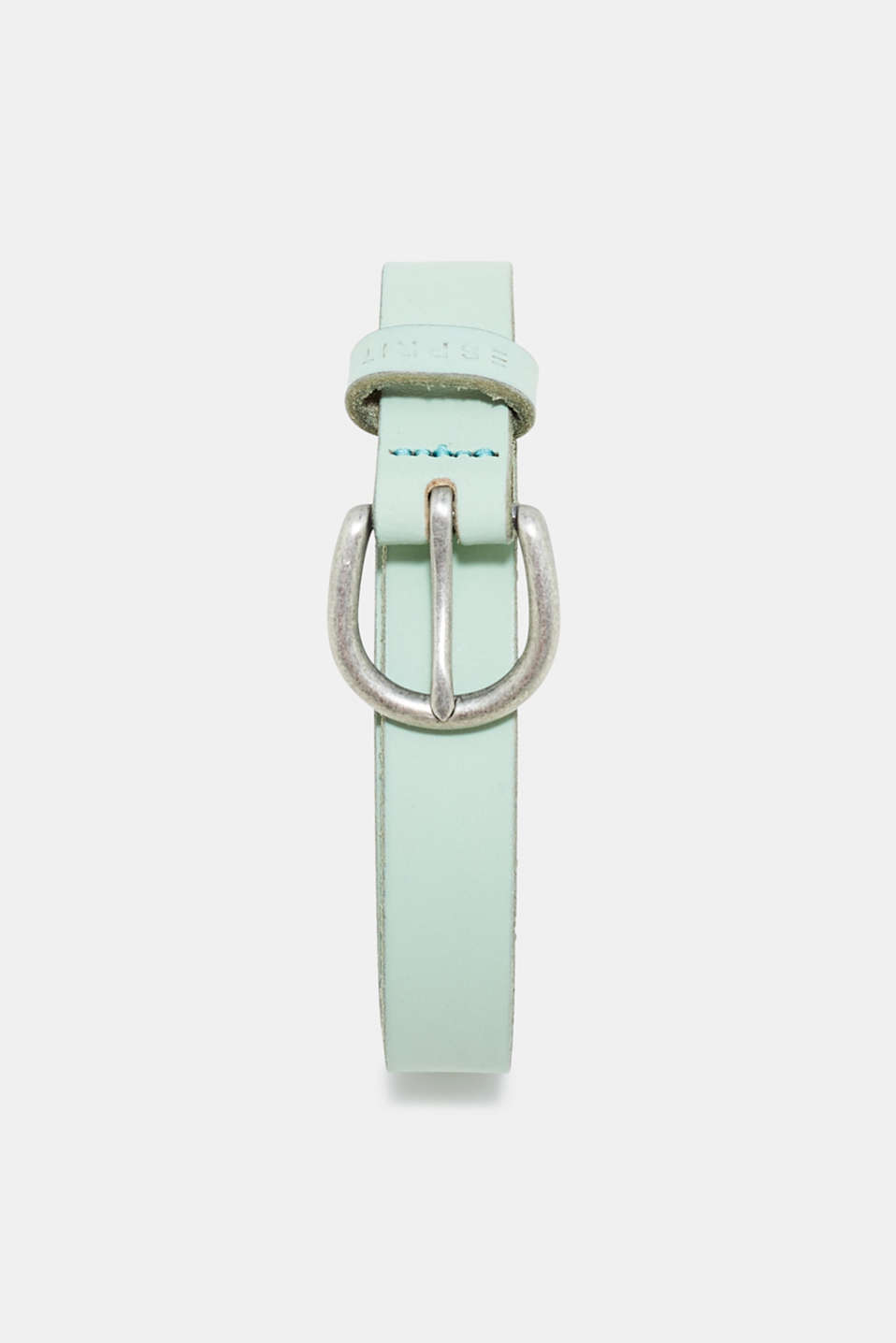 Esprit - Narrow leather belt in pastel colours