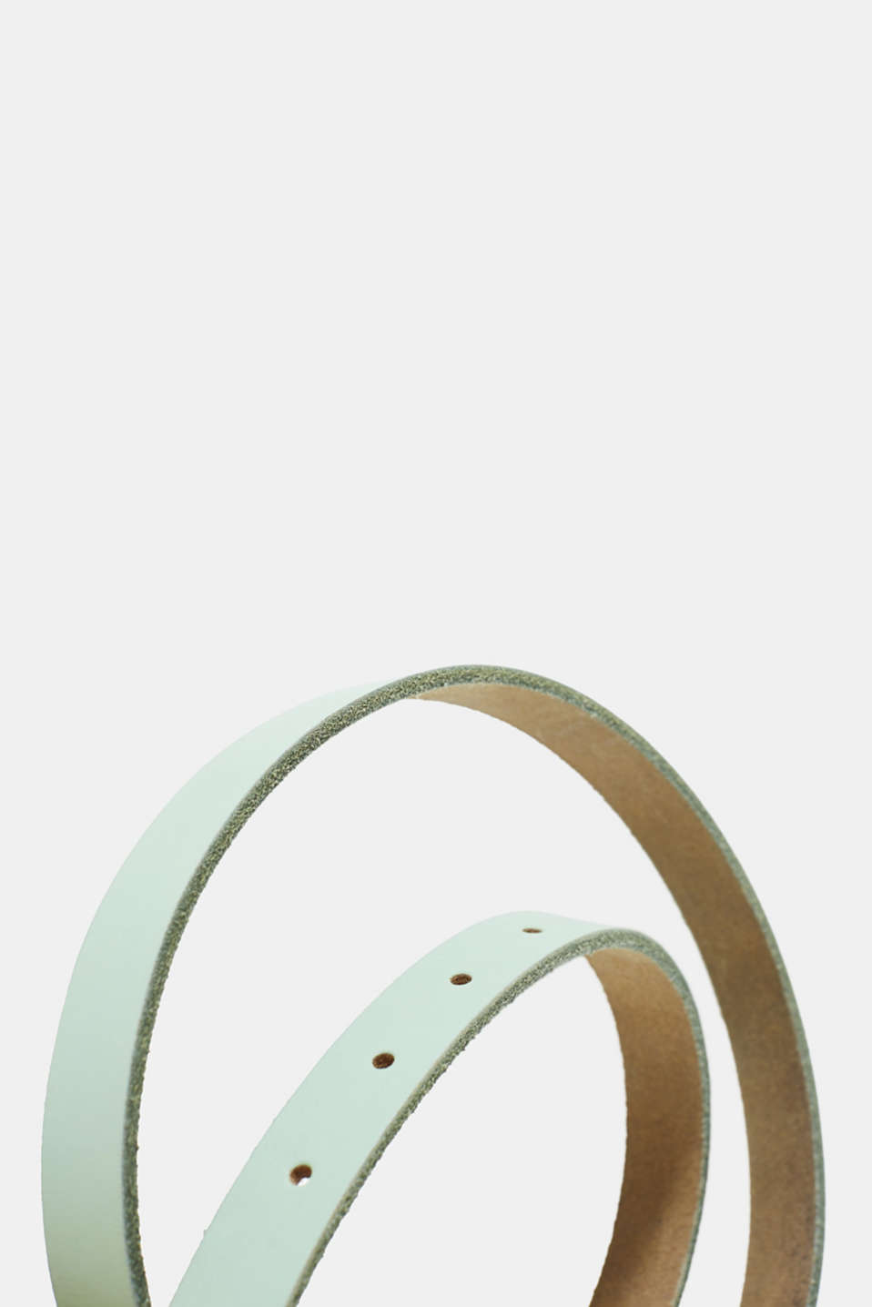 Narrow leather belt in pastel colours