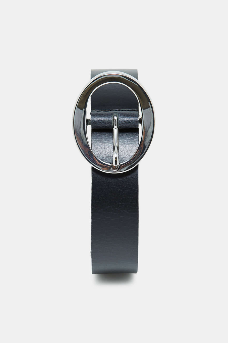 Esprit - Leather belt with a high-shine, polished buckle