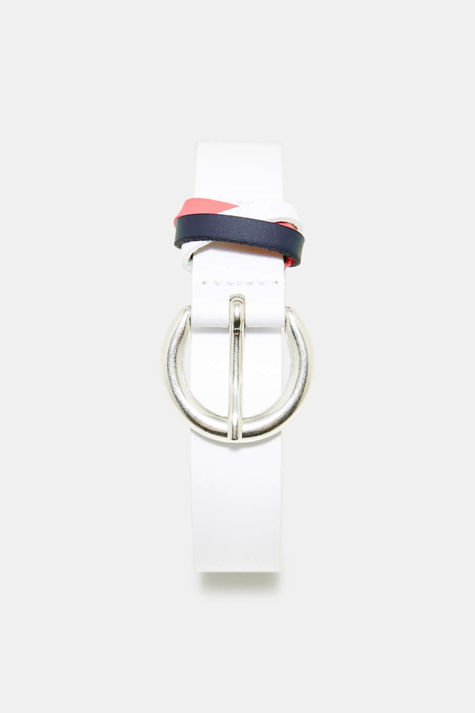 Esprit - Belt with colourful strap, in leather