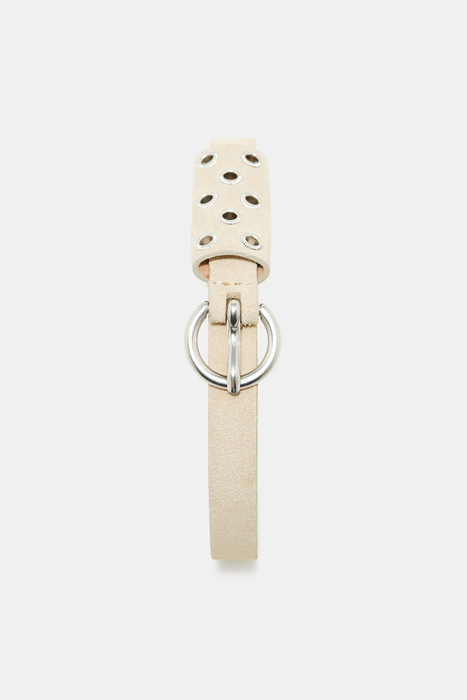 Esprit - Narrow leather belt with a studded belt loop