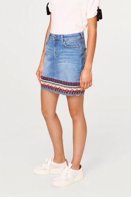 Esprit – Strečová džínová sukně s etno výšivkou v našem on-line shopu 3312b12be1