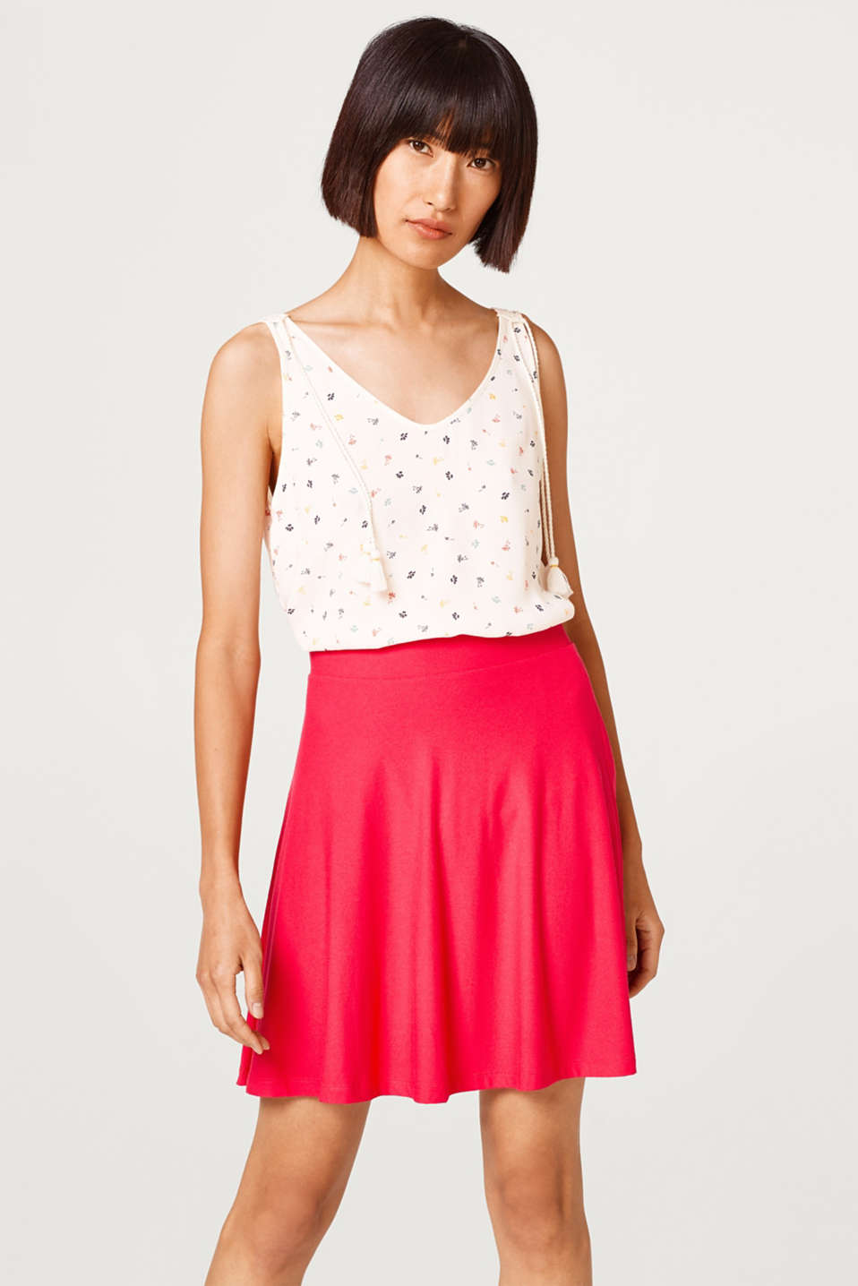 Esprit - Swirling jersey skirt in an A-line