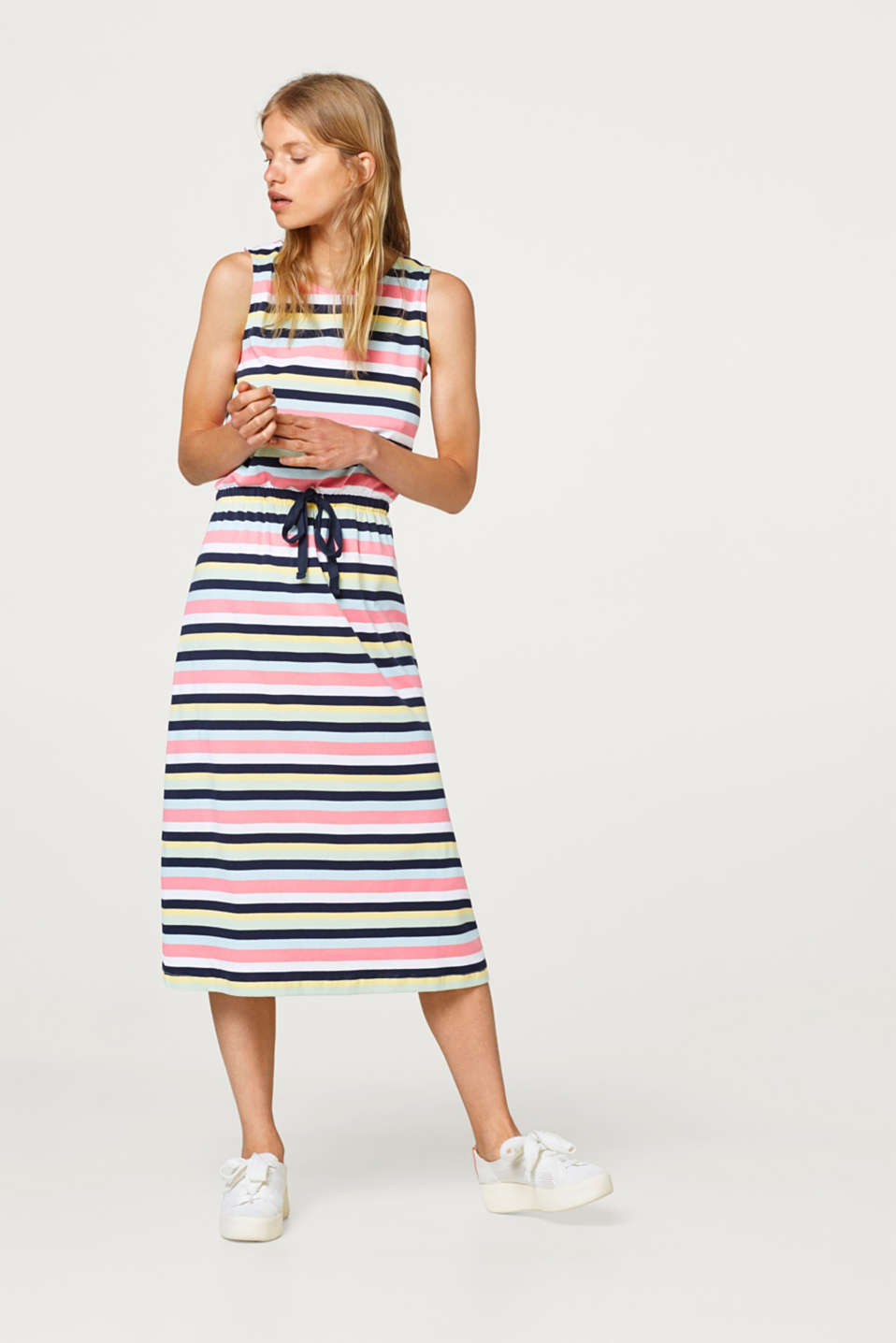 Esprit - Jersey midi dress, 100% cotton