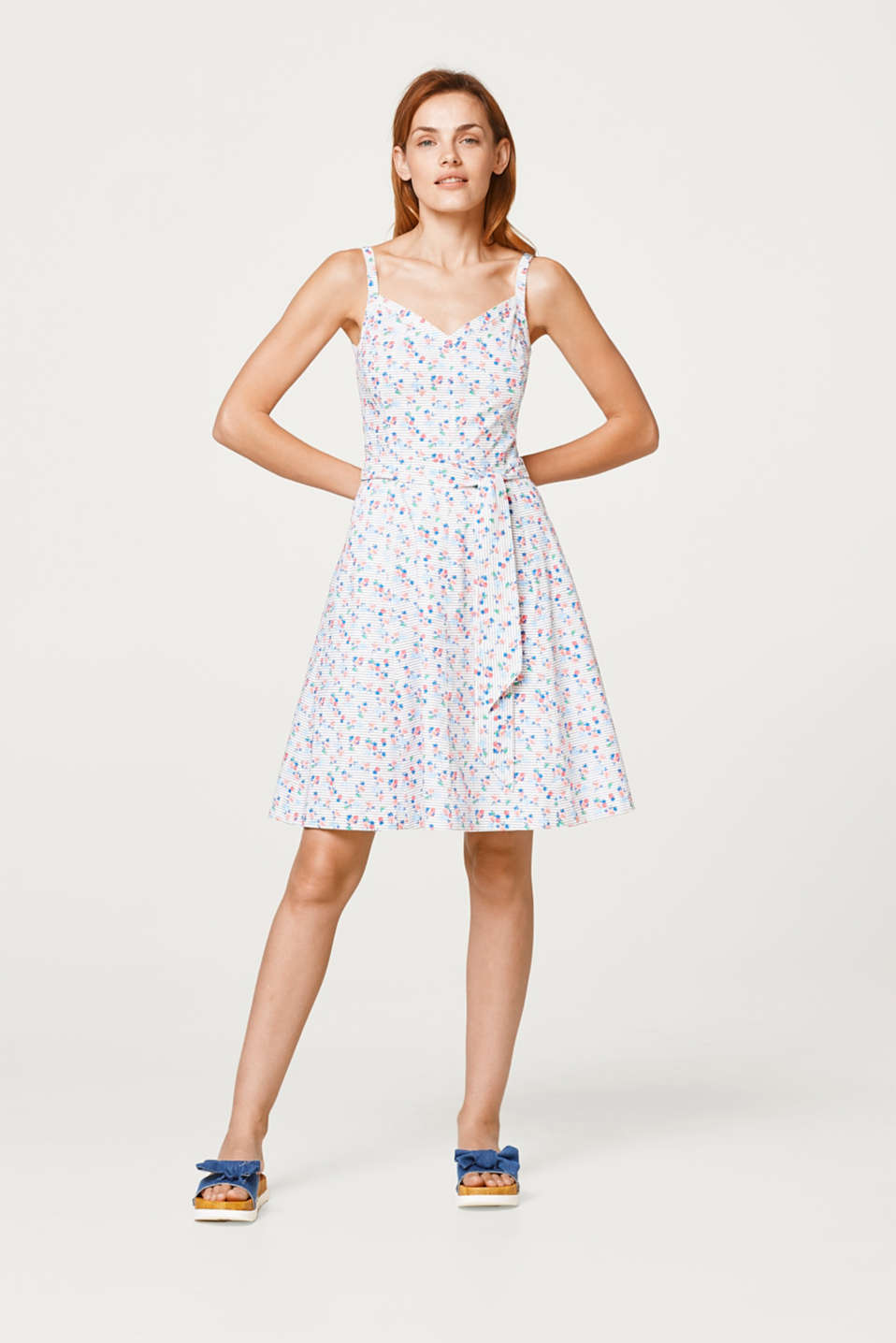 Robe à imprimé en coton stretch