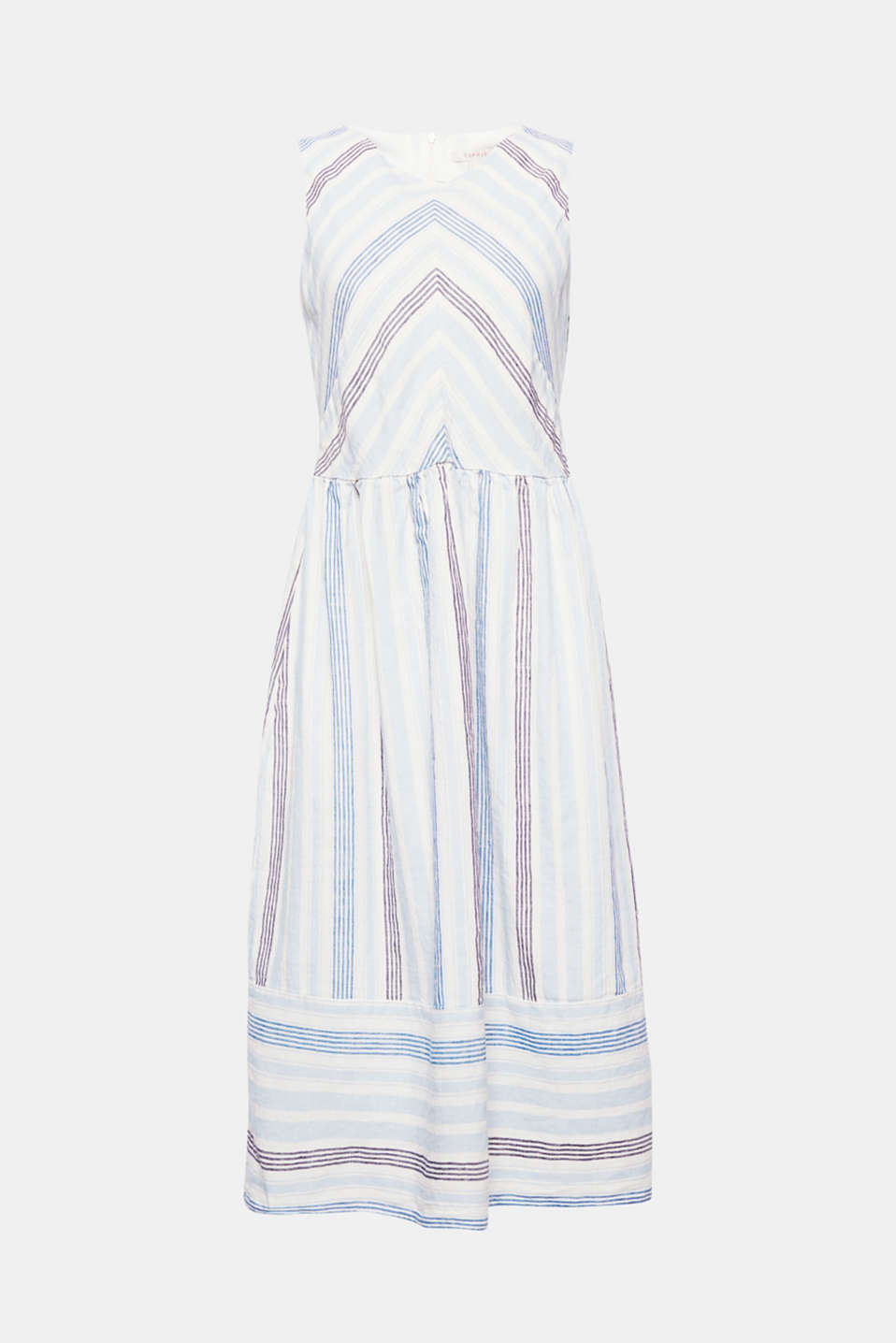 Your dress for beautiful summer days: with a high percentage of linen, a fresh striped pattern and a fashionable midi length!