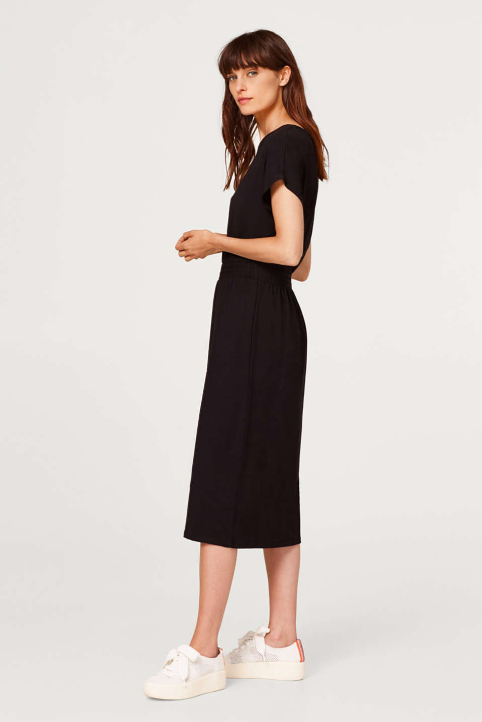 Midi dress in stretch jersey