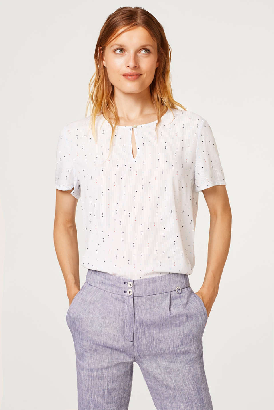 Esprit - Blouse top with an all-over print