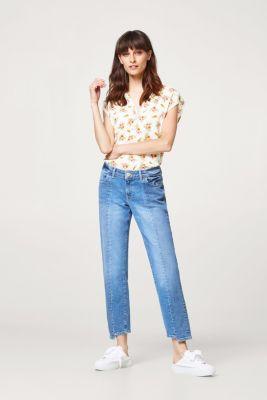 Esprit - Blusen-Top mit Blumen-Print und Henley-Ausschnitt im Online ... 7d937518c2