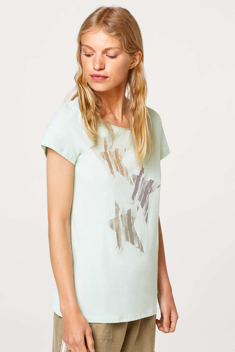 Esprit - Foil print top, 100% cotton