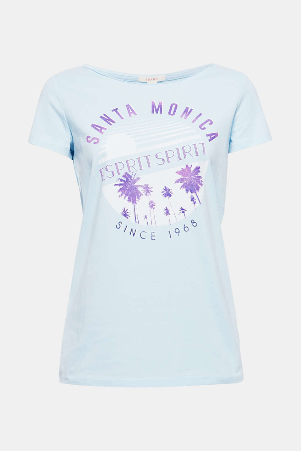 Your ESPRIT spirit! The stunning statement print on the front of this pure cotton T-shirt will make you the centre of attention!