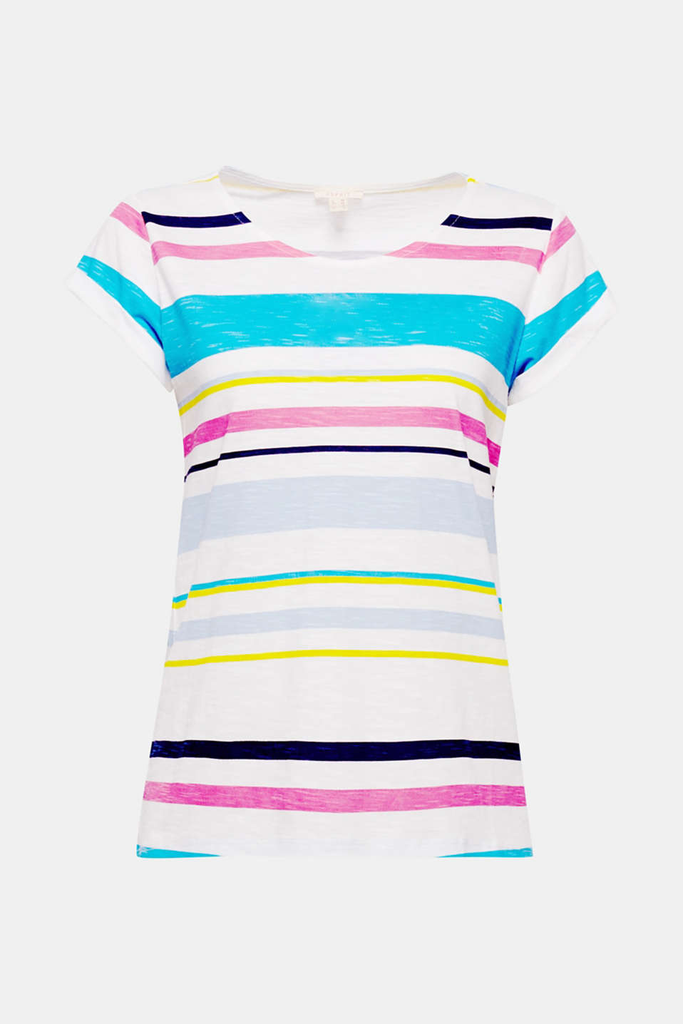 Colourful block stripes and the airy slub structure make this cotton top a perfect summer piece for every day!