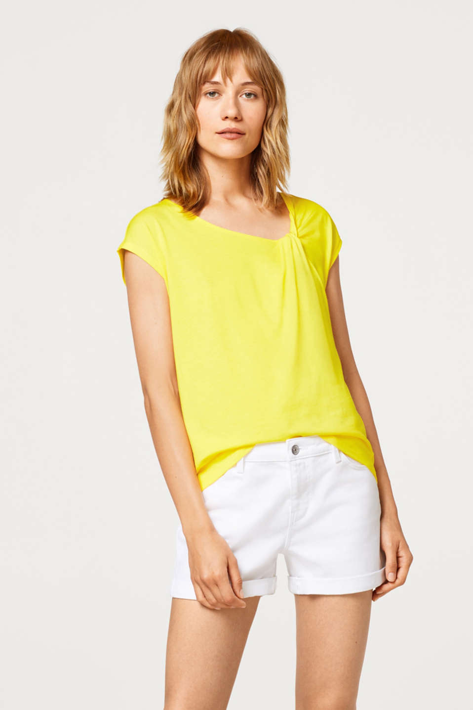 Esprit - Top with asymmetric knot details