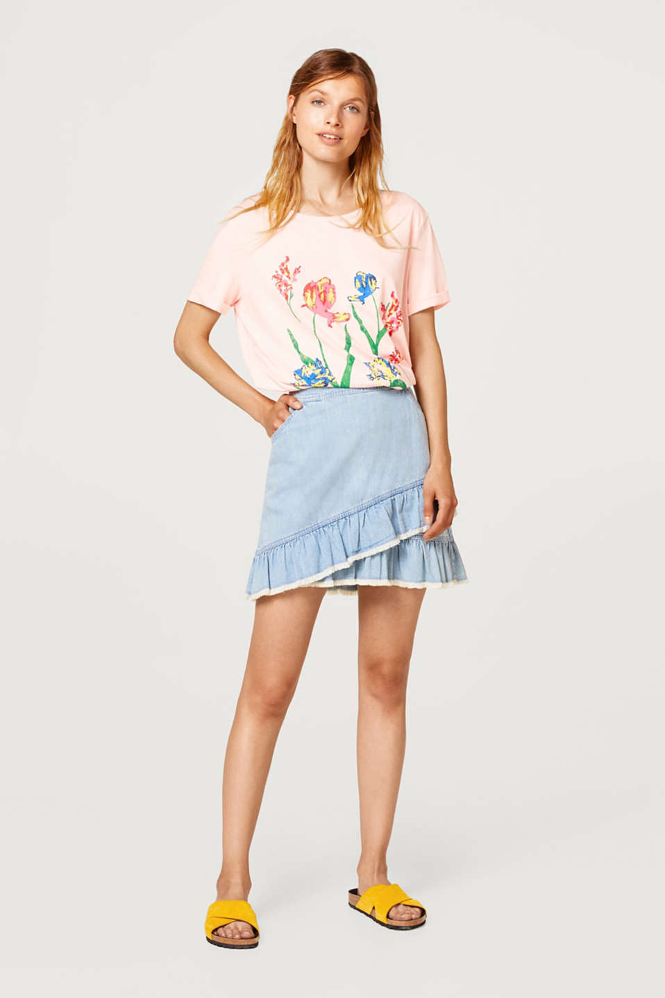 Oversized T-shirt with a print, 100% cotton