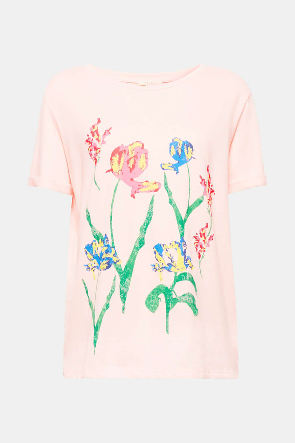 Artistic: the stunning, vibrant print on this oversized, pure cotton T-shirt looks as if it has been painted!