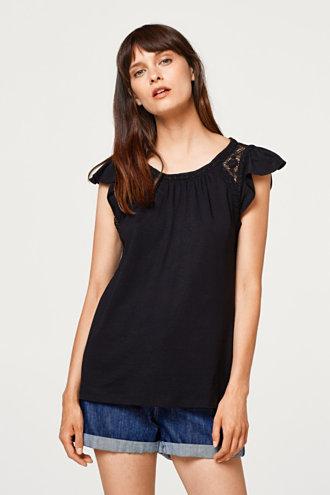 d0c57824a06 Esprit – Triko s krajkou a křidélkovými rukávy v našem on-line shopu