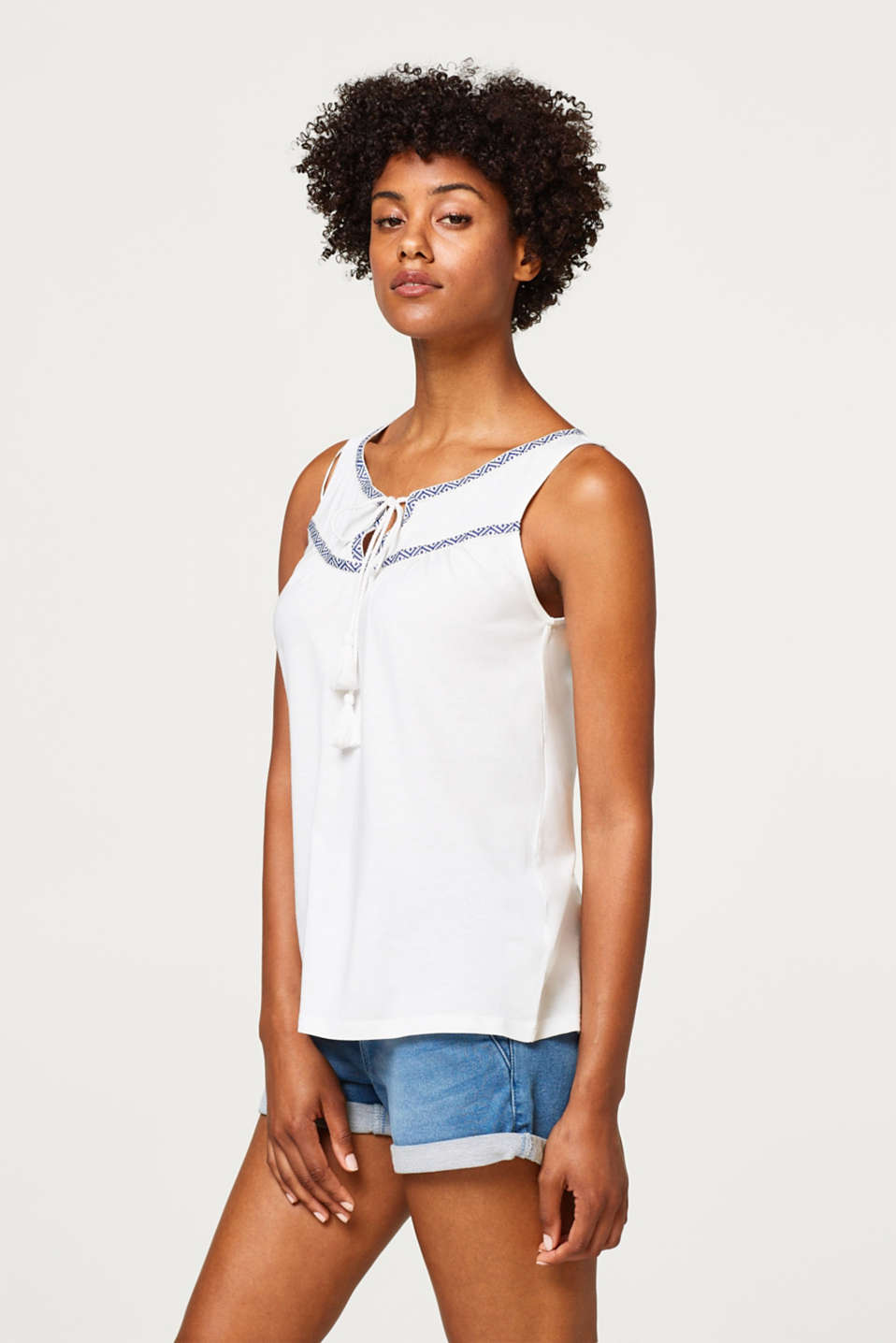 Esprit - Ethnic-style jersey top