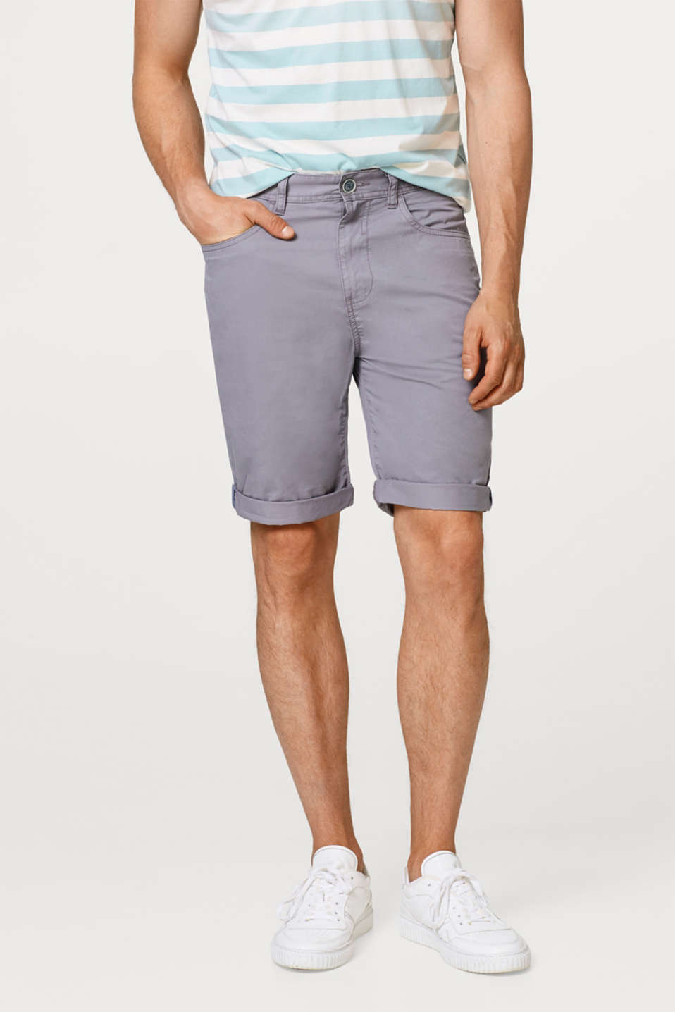 Esprit - Cotton twill shorts