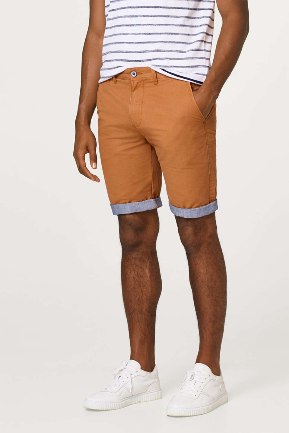 Esprit - Stretch Bermudas with chambray hems